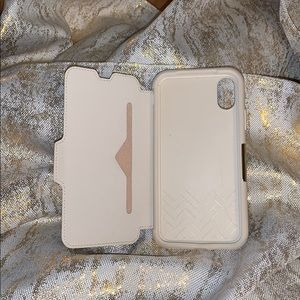 AUTH Otterbox iPhone X/Xs Leather Case - Soft Opal